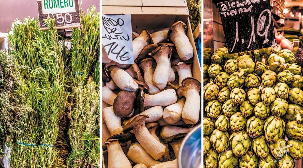Barcelona Mercat la Boqueria Gemüse
