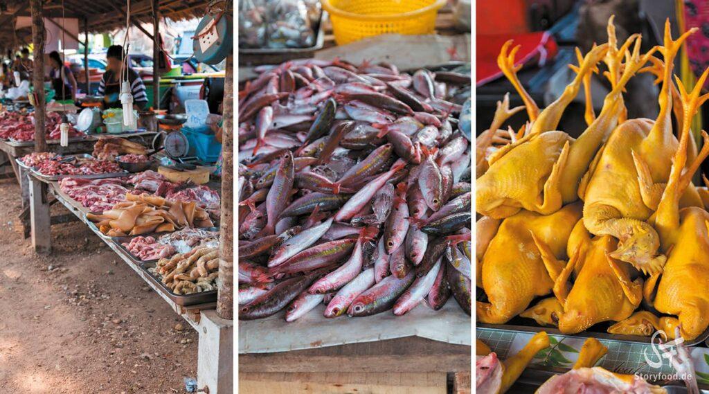 Khao Lak Markt Fisch und Fleisch